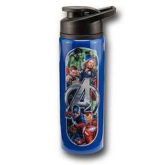 Avengers Water Bottle: Stainless Steel - The Avengers Stainless Steel Water Bottle holds 750ml (25oz) of liquid.Note: Product must be hand-washed. Do not microwave.