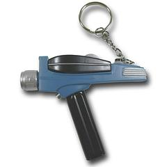 Star Trek Phaser Keyring Torch - The Star Trek Phaser Flashlight Keyring measures approximately 8.5cm long and features a red LED torch.This product uses 3 × 1.5V LR41 button cell batteries (supplied).