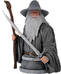 Gandalf Mini Bust - The Hobbit - Rendered in high-quality polystone and hand painted, this screen-accurate Gandalf The Grey Mini-Bust, from the hit Movie Series, The Hobbit Trilogy, is a true collector's collectable.Weighing in at just under 2 kilograms, this piece of art from the talented craftspeople over at Gentle Giant Studios is almost as formidable as the great mage himself, and will keep all other Lord of the Rings and The Hobbit collectables you own, well in line.
