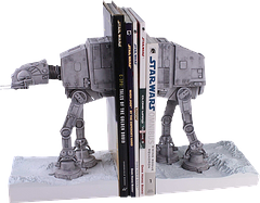 Star Wars At-At Bookends - Nothing is getting past these heavy duty, battle transport bookends, not even the heaviest encyclopaedia would stand a Jawa's chance in a Rancor pit, of escape. They are set in high quality polystone, and are individually hand painted for screen accuracy.This is a limited edition run and each bookend comes numbered and with a certificate of authenticity. They are a rare find and a classic addition to any great Star Wars collection.