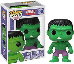 """Hulk Pop! Vinyl Bobble Head Figure - Well priced Pop! Vinyl Figures, always.Irradiated by a Gamma Bomb explosion Doctor Bruce Banner became the Incredible, and incredibly powerful, Hulk. Now he's also less than 4 inches tall and a bobble head. But don't tell him that, or he'll be all like, """"Bobble-Hulk smash!"""" And it never goes well from there.This 3.75"""