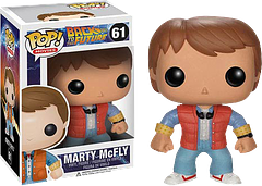 Marty McFly Pop! Vinyl Figure - This Pop! Vinyl Marty McFly figure would still take on Biff, Principal Strickland and the space/time continuum itself, even at 3.75