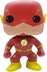 The Flash New 52 Pop! Vinyl Figure - The New 52 Pop! Vinyl Figure is an essential candidate for any Justice League or DC Heroes collection. But you'd better hurry because he'll be gone in a fla-; uh… I'm sure you get the idea.