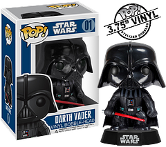 Darth Vader Pop! Vinyl Figure - The Funko Star Wars Darth Vader Pop! Vinyl Figure is an absolute essential in the series. If you don't believe me, he can convince you himself. I recommend you take a deep breath before doubting him though. He may only be 3.75