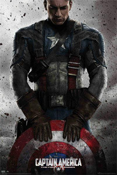 Captain America Poster with Shield