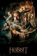 The Hobbit DOS - Gandalf Poster - Gandalf features on this cast-studded Desolation of Smaug Poster from the epic movie series, The Hobbit.Standard Poster size: 61cm x91.5cm.