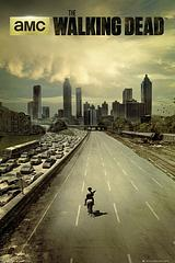 Walking Dead City Poster - The classic Walking Dead Poster can be all yours. It features the atmospheric cityscape background, no doubt teeming with walkers.Standard Poster size: 61cm x91.5cm.