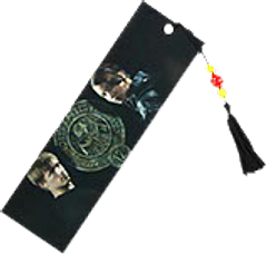 Hunger Games Bookmark Katniss and Peeta - Complete your official Hunger Games Bookmark set with the Peeta and Katniss, District 12 Seal, bead-adorned bookmark. This is the top bookmark in this line.