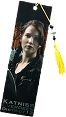 Hunger Games Bookmark Katniss - Complete your official Hunger Games Bookmark set with the Katniss Everdeen, District 12, bead-adorned bookmark, and be inspired by this young heroine.