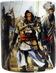 Assassin\'s Creed 4 Crew Coffee Mug - Now you can drink in all your favourite characters from Ubisoft's latest release of the popular Assassin's Creed series with this Assassin's Creed IV: Black Flag coffee mug, which features the colourful images of Edward Kenway and his crew.Microwave and dishwasher safe.