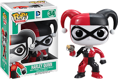 Harley Quinn Pop! Vinyl Figure - The Harley Quinn Pop! Vinyl figure stands an adorable 3.75