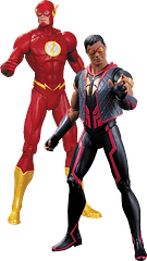 Flash Vs Vibe Action Figure Pack - This 2 pack of high quality DC Comics, New 52 Action figures contains The Flash and Vibe; a perfect duo for mayhem. Own them both in one blink of an eye.