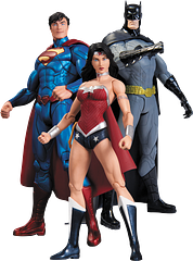 Trinity War Action Figure 3 Pack - Superman, Wonder Woman and Batman are the ultimate DC superhero trinity and they make an awesome buy; all three for one price. This item will not last at this price, and it's little wonder.