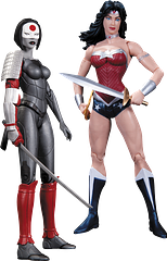 Wonder Woman Vs Katana 2 Pack - Let battle commence. Both can more than hold their own in a fray, but who would emerge victorious? The New 52 2 pack of the Wonder Woman and Katana Action Figures is not to be missed.