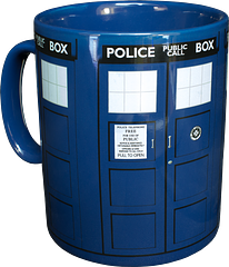 Doctor Who Tardis Mega Mug - This one is pretty big on the inside, let's just get that out of the way. It holds 900ml of tea or coffee; enough to either keep you very, very calm or make you very, very hyper. Either way, you're far less likely to lose it as often as The Doctor loses the real Tardis.The Doctor Who Tardis Mega Mug is more of a challenge than a drinking vessel. Feel up to the adventure?