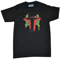 Boba Fett Paint Splatter T-Shirt - Never has Boba Fett looked more edgy and mysterious than on this Star Wars Boba Fett Pain Splatter T-Shirt from Lucasfilm Ltd.Rock The Fett, wherever your bounty hunting takes you.