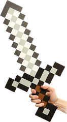 Minecraft Foam Iron Sword - Get down and dirty with the power of an official, life-sized Minecraft Foam Iron Sword replica.