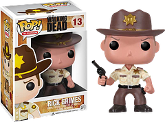 Rick Grimes Pop! Vinyl Figure - He's the leader of leaders, whether he wants to admit it or not. Straight from the hit AMC television show, Sheriff Rick Grimes joins the 3.75