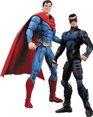 Superman Vs Nightwing Figures 2 Pack - From Injustice: Gods Among Us, comes this awesome 2 Pack, which has Nightwing taking on Superman. Uh, that might be a bit one sided a battle, but they're great figures, averaging 4