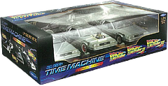 Back to the Future 3 DeLorean Gift Set - This is an amazing set of three DeLoreans, one from each of the three Back to the Future films. Unlike other replicas, the 1:24 scale DeLoreans in this Trilogy Gift Set are of diecast metal and also feature the DeLorean Logo on every car in the collection. A true collector's dream.