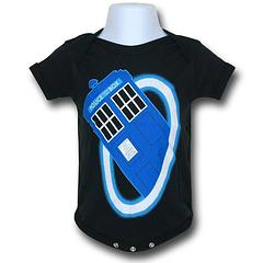 Doctor Who Infant Snapsuit - The Doctor Who Time Warp Infant Snapsuit is made from 100% cotton.Colour: Black