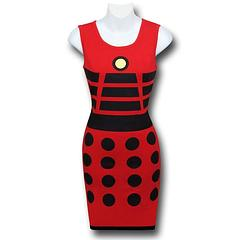 Doctor Who Dalek Costume Tank Dress - The Doctor Who Dalek Costume Women's Tank Dress is made from 95% cotton and 5% spandex.