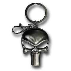Punisher Keyring Pewter Symbol - The Punisher Symbol Shiny Pewter Keyring measures approximately 7cm in length.