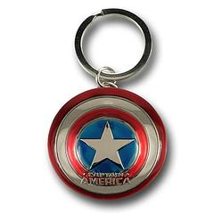 Captain America Shield Keyring - The Captain America Movie Metal Shield Keyring measures approximately 5cm (2 inches) in diameter.