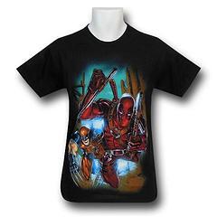 Deadpool and Wolverine Charge T-Shirt - Deadpool and Wolverine Charge on Black T-Shirt is made from 100% cotton.Colour: Black