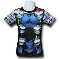 Thor Sublimated Costume T-Shirt - The Thor Sublimated Costume Fitness T-Shirt is made from 92% polyester and 8% spandex.