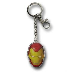 Iron Man Head Keychain - The Iron Man Modern Metallic Head Keychain measures approximately 5.5cm (2.25 inches) in length and features both the split-ring keyring and a belt clip.