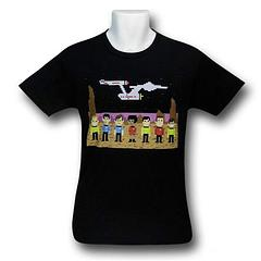 Star Trek Pixel Crew T-Shirt - The Star Trek Pixel Crew T-Shirt is made from 100% preshrunk cotton.