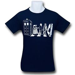Doctor Who Gallifrey Road T-Shirt - The Doctor Who Gallifrey Road T-Shirt is made from 100% cotton.Colour: Navy Blue