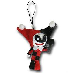 Harley Quinn String Doll Keychain - The Harley Quinn String Doll Keychain is an adorable 7.5cm (3 inches) tall and comes complete with her own little mallet. So cute!It can be attached to a keyring, but does not come with the ring itself.