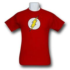 The Flash Symbol T-Shirt - Have the need for speed?  Zoom around in this 100% cotton The Flash Symbol T-Shirt.Colour: Red