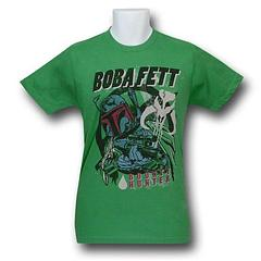 Boba Fett Gun Paint T-Shirt - The Star Wars Boba Fett Gun Paint 30s T-Shirt is made from 100% cotton.Colour: Green