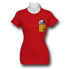 Star Trek Spock Pocket T-Shirt - Live long and prosper in this 100% cotton Star Trek Spock Pocket Red Women's T-Shirt.Colour: RedSizing: Women's Juniors (Baby Doll)