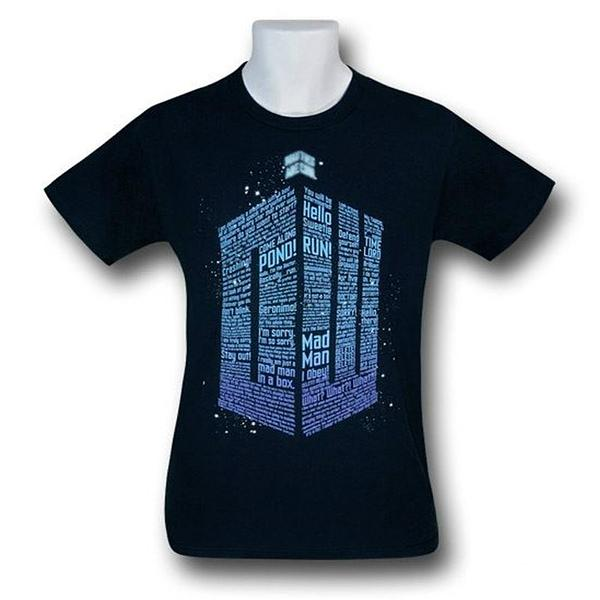 Doctor Who Phrases Logo T-Shirt