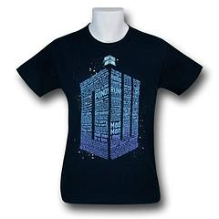 Doctor Who Phrases Logo T-Shirt - The Doctor Who Phrases Logo T-Shirt is made from 100% cotton.
