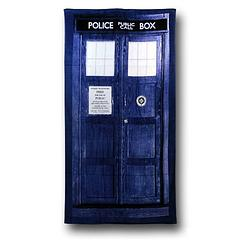 Doctor Who Tardis Beach Towel - The Doctor Who Blue Tardis Beach Towel is made from 100% cotton and measures 150cm x 75cm (59 × 29.5 inches).