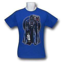 Darth Vader Boom Box Skater T-Shirt - The Star Wars Vader Boom Box Skater T-Shirt is made from 100% preshrunk cotton.Colour: Blue