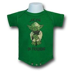 Star Wars Yoda Jedi Training Snapsuit - The Star Wars Jedi Training Infant Snapsuit is made from 100% cotton.