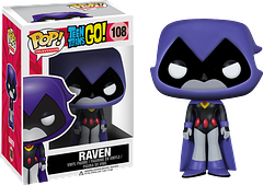 Raven Pop! Vinyl Figure - Teen Titans Go - Don't be put off by her deadpan, unemotional appearance.  This teenage demon-spawn, still enjoys a good prank, and can hold her own when it comes to sarcastic retorts.  Not to mention that mountain of immense powers squeezed into one tiny teen!  Here at her stoic best, is the 3.75
