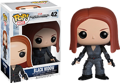 Black Widow Pop! Vinyl Figure - Captain America 2 - After wiping out all that red in her ledger in the Avengers, the Black Widow is back to help Cap deal with the pesky Winter Soldier. Here at 3.75