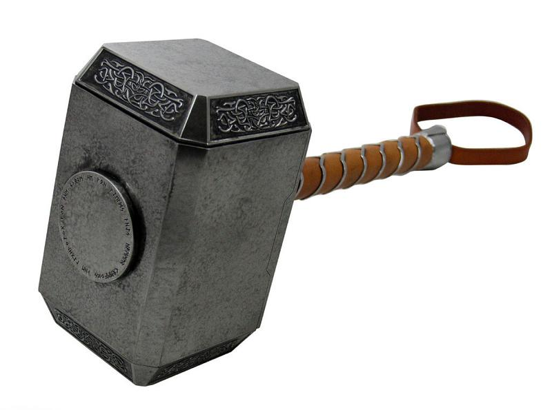 Thor\'s Hammer Replica by eFX Signed by Stan Lee and Chris Hemsworth