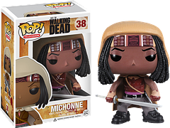 Michonne Pop! Vinyl Figure 3.75″ - Here she is, the Samurai of the walker-infested wasteland that the world has become; Michonne of the hugely popular AMC series The Walking Dead.She's 3.75 inches tall – her sword is a little smaller than that.