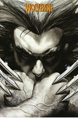 Wolverine Poster Claws Extreme - This one's all about the intensity and the agony of enduring the curse and privilege of being the best he is at what he does. This Marvel Wolverine Poster depicts Logan, rather than the suited-up Wolverine, preparing for pitched battle. I wouldn't want to be around when he starts with the slicing and dicing.Standard poster size.