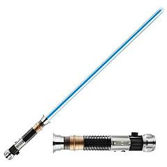 Obi-Wan Kenobi Lightsaber Force FX Removeable Blade - The apex of Star Wars Lightsaber Technology on Planet Earth is embodied in the Force FX range of removeable blade lightsabers.Complete with full power-up and power-down light and sound effects, and a gyroscope to control the movement and clash effects, the Obi-Wan Kenobi, Removeable Blade Lightsaber is the perfect replica Lightsaber, as it can be wielded or be attached to your belt with the blade removed, for stealth.These always sell out fast so be quick, but also rest assured that...
