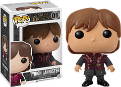 Tyrion Lannister Pop! Vinyl Figure - There are too many reasons to list why Tyrion Lannister is a man not to be trifled with, but in this 3.75 inch Pop Vinyl version you can see the softer side of this brave and battle-scarred warrior.