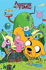 Adventure Time Poster - House - This fun and colourful Adventure Time House poster features lots of great characters from the popular t.v. show and is sure to brighten even the dullest wall.